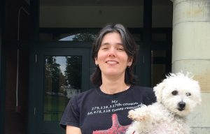Professor Luana Maroja and her dog